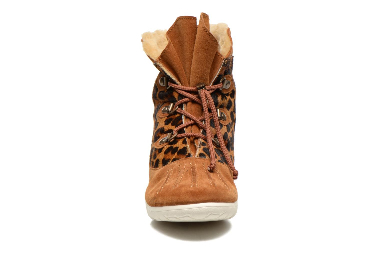 Bottines et boots Yum Gum Murren animal Marron vue portées chaussures