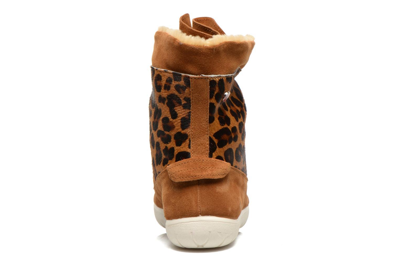 Bottines et boots Yum Gum Murren animal Marron vue droite