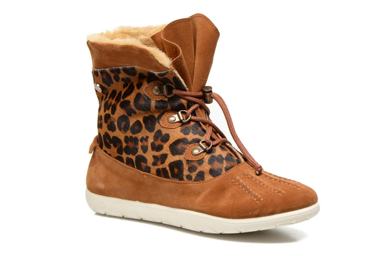 Bottines et boots Yum Gum Murren animal Marron vue détail/paire