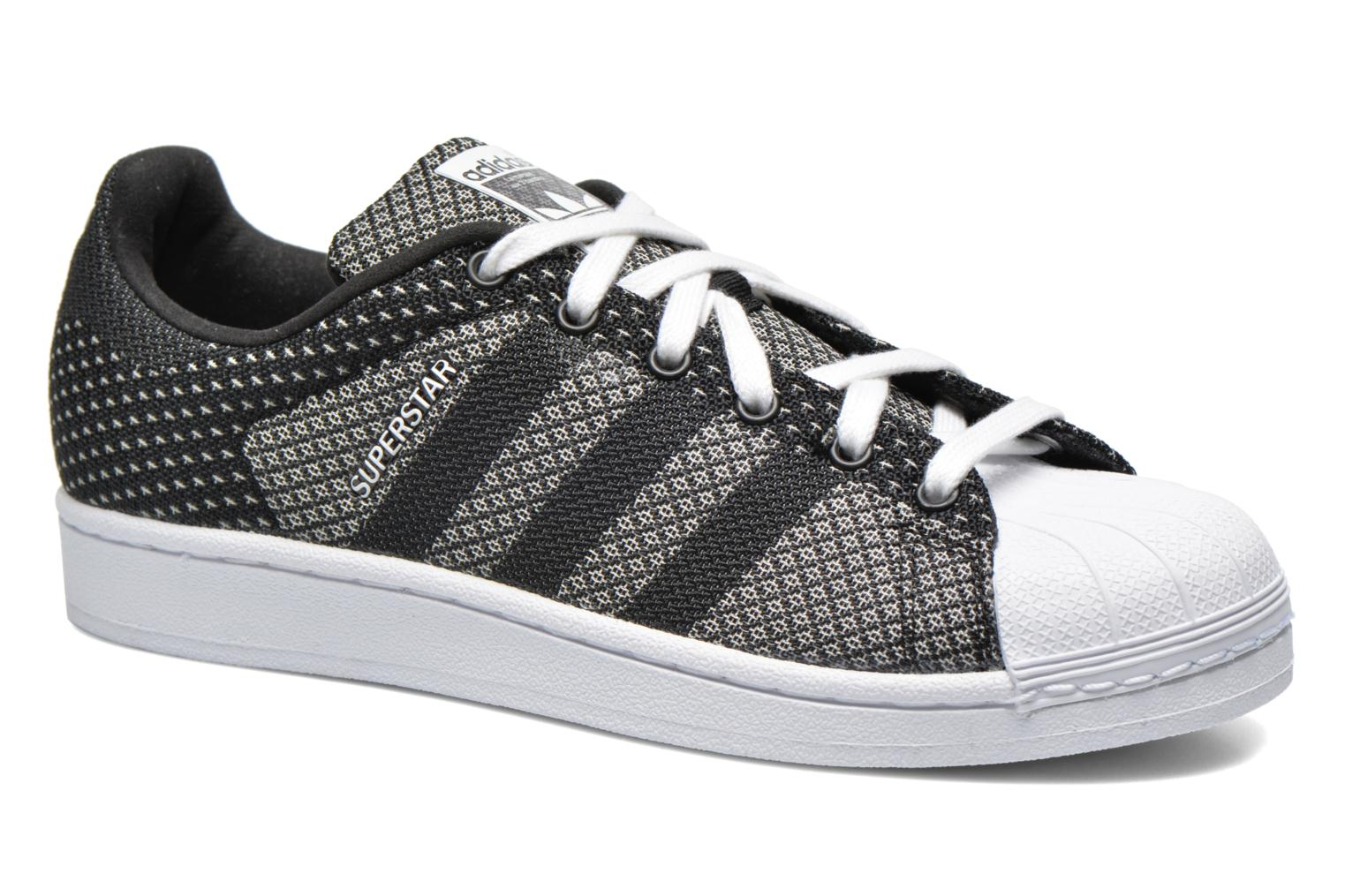 Baskets Adidas Originals Superstar Weave Pack Noir vue détail/paire