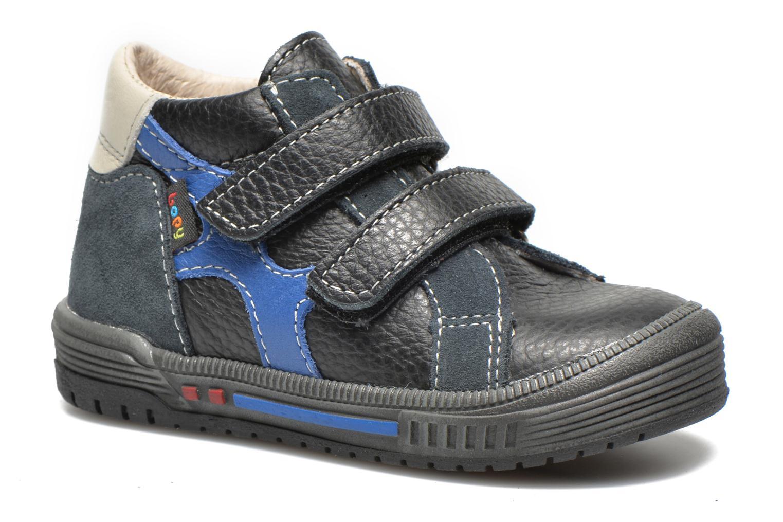 Chaussures à scratch Bopy Betic Noir vue détail/paire
