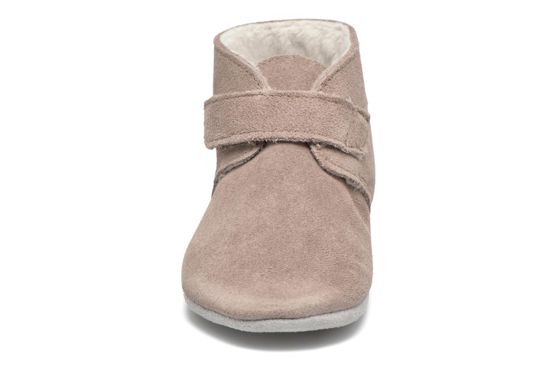 Chaussons Robeez Pole Nord Beige vue portées chaussures