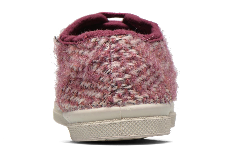 Sneaker Bensimon Tennis Girly Tweed E rosa ansicht von rechts