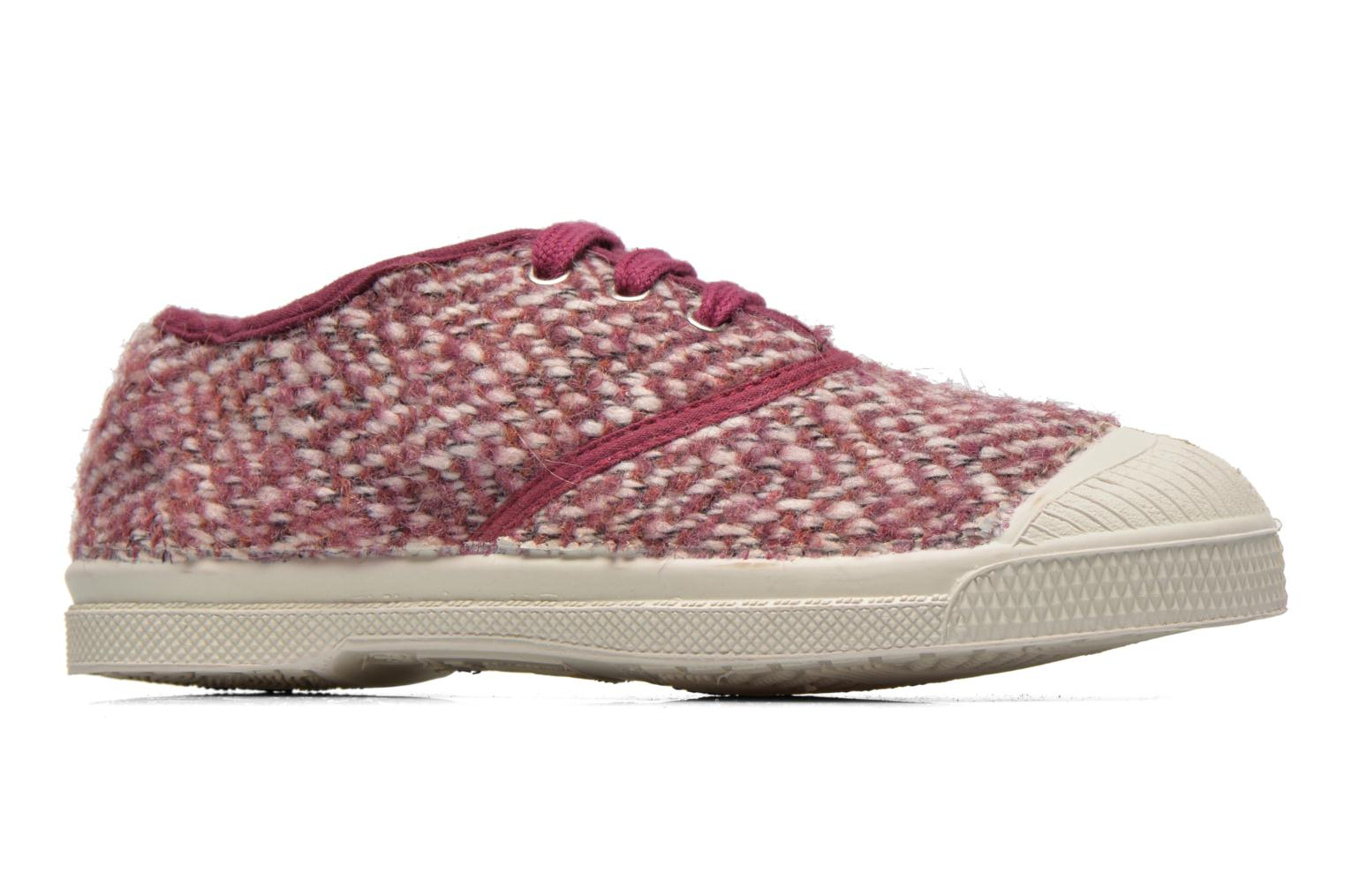 Trainers Bensimon Tennis Girly Tweed E Pink back view