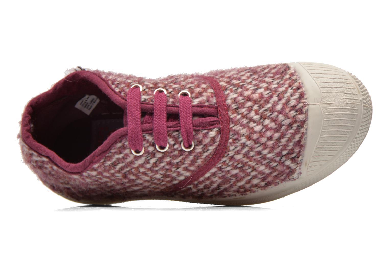 Sneaker Bensimon Tennis Girly Tweed E rosa ansicht von links