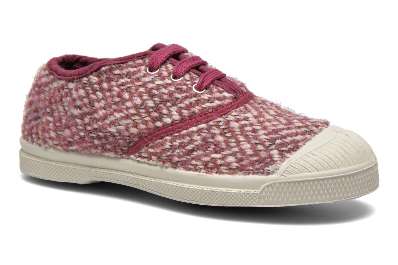Trainers Bensimon Tennis Girly Tweed E Pink detailed view/ Pair view