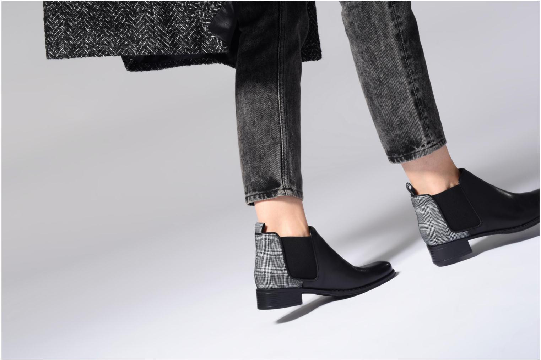 Bottines et boots Made by SARENZA Busy Girl Bottines Plates #4 Argent vue bas / vue portée sac
