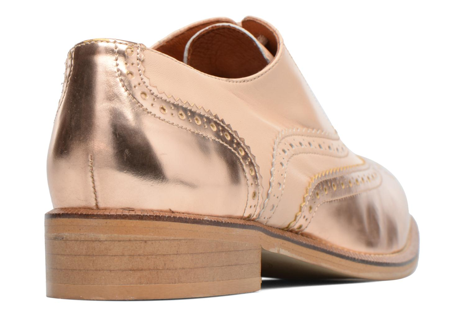 90's Girls Gang Chaussures à Lacets #5 Specch gold + Gutoby nude