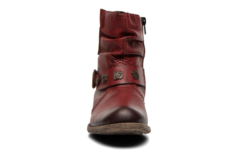 Stiefeletten & Boots Rieker Myla 74798 weinrot schuhe getragen