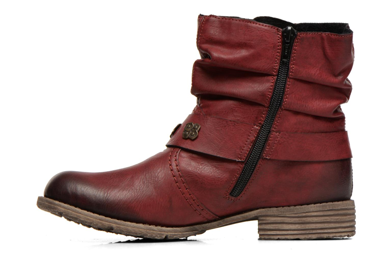 Ankle boots Rieker Myla 74798 Burgundy front view