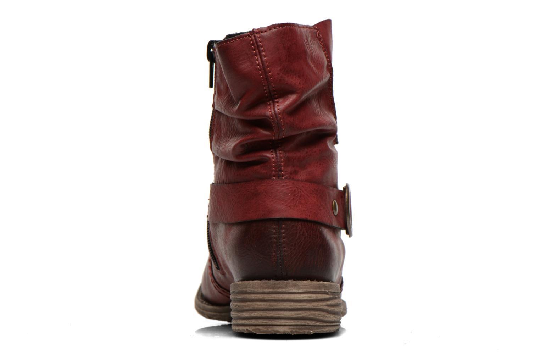 Bottines et boots Rieker Myla 74798 Bordeaux vue droite