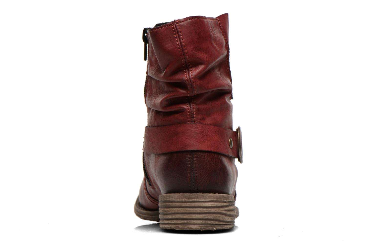 Ankle boots Rieker Myla 74798 Burgundy view from the right