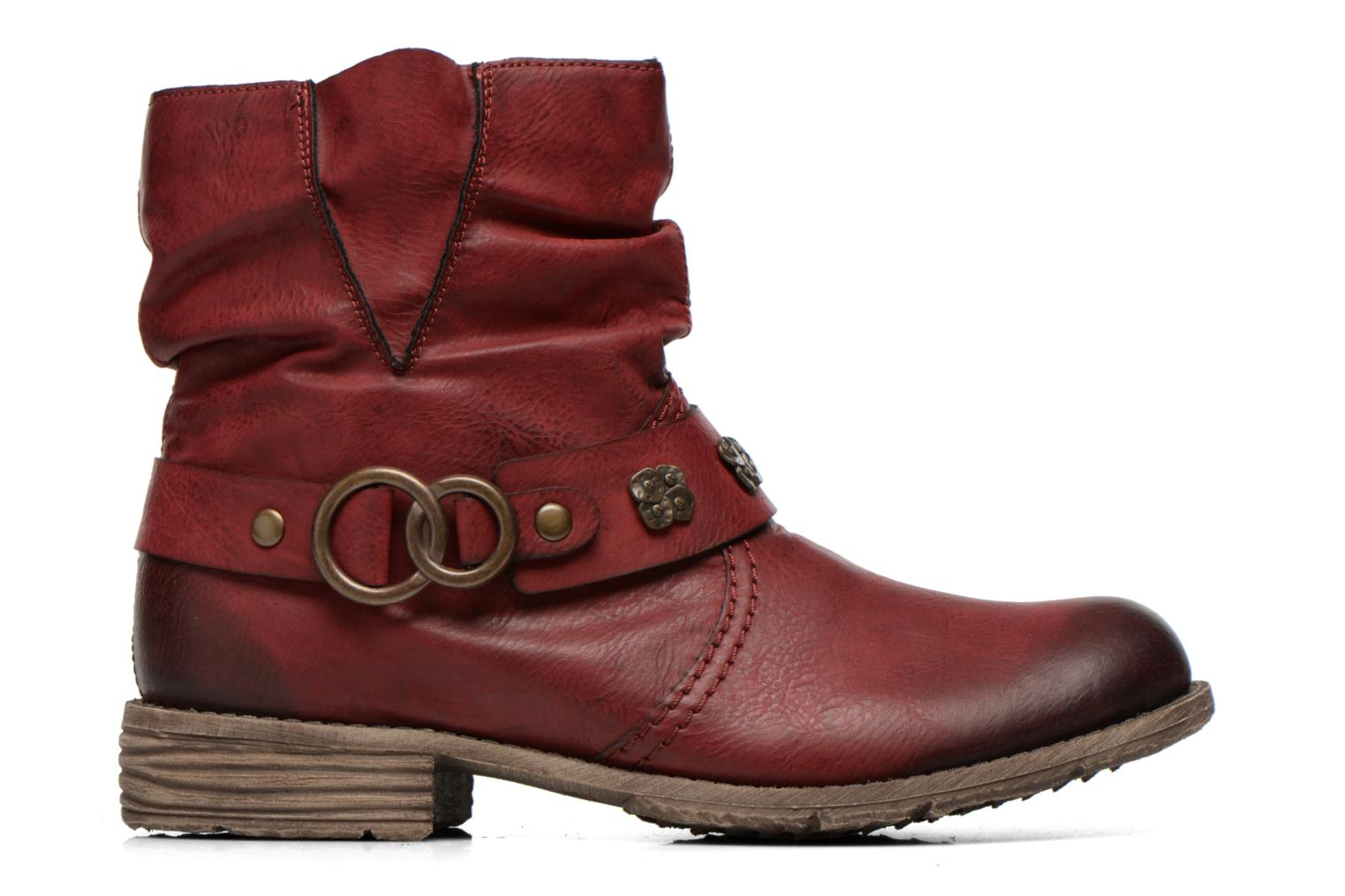 Ankle boots Rieker Myla 74798 Burgundy back view
