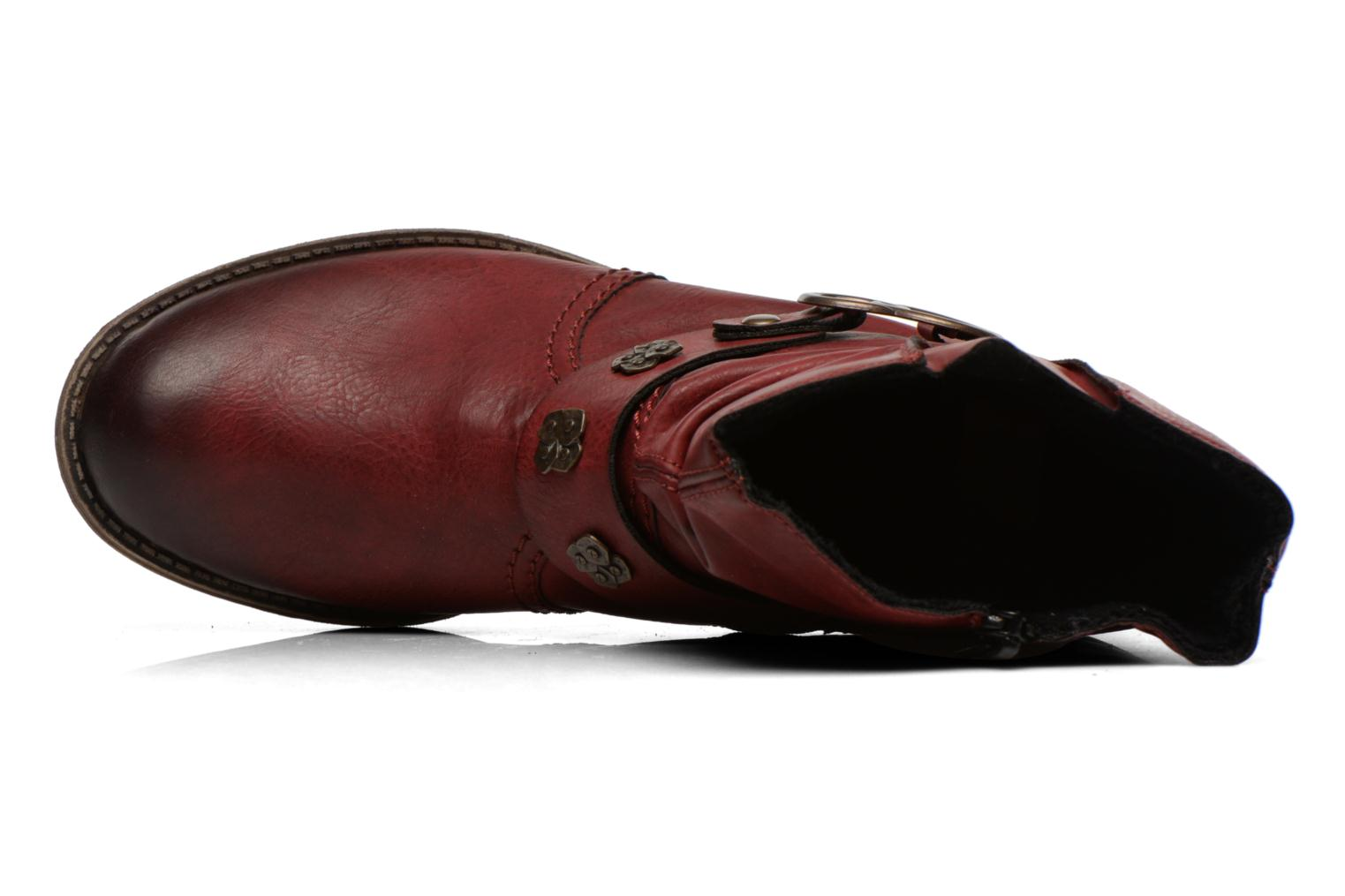 Ankle boots Rieker Myla 74798 Burgundy view from the left