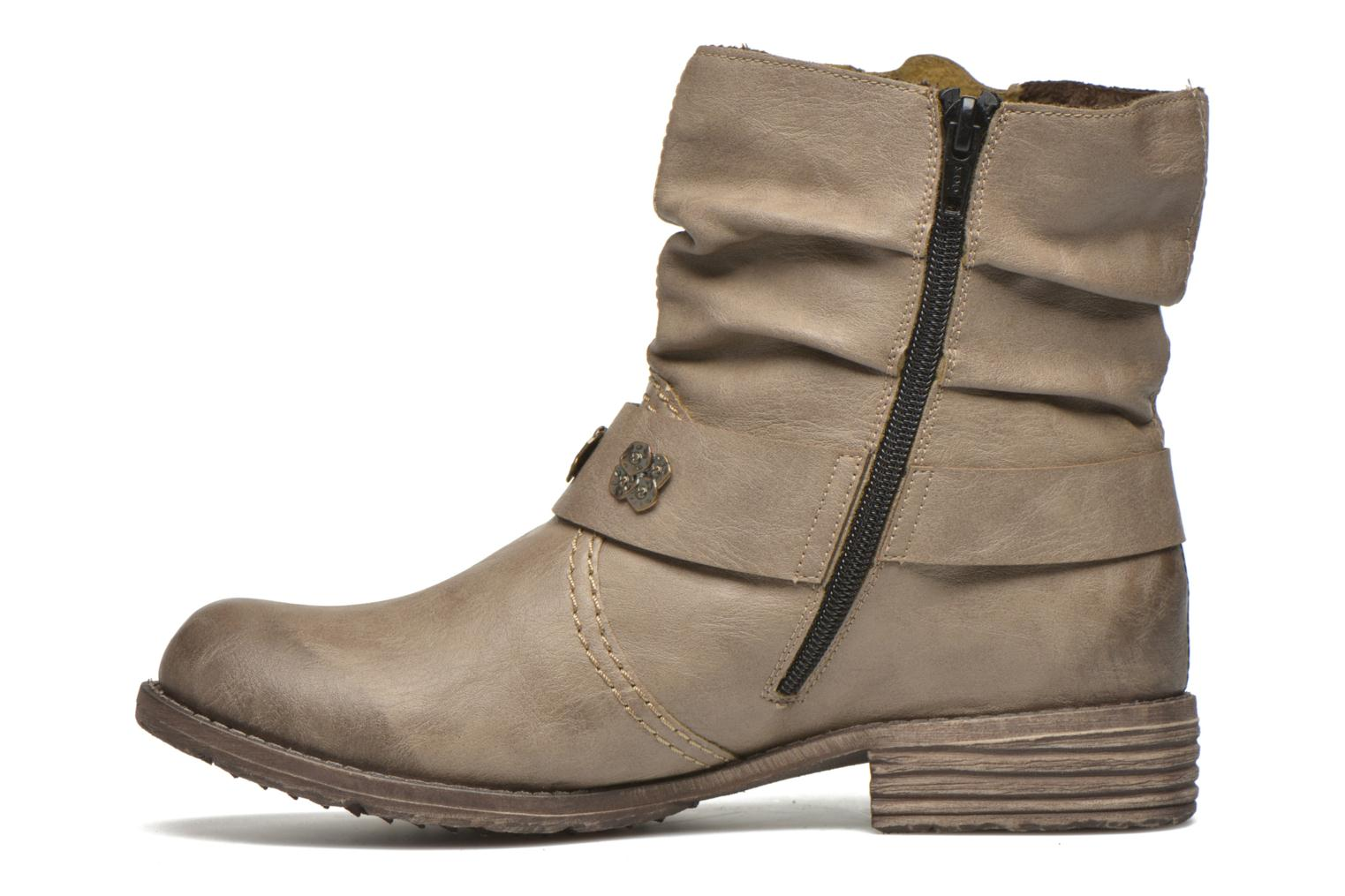 Ankle boots Rieker Myla 74798 Beige front view