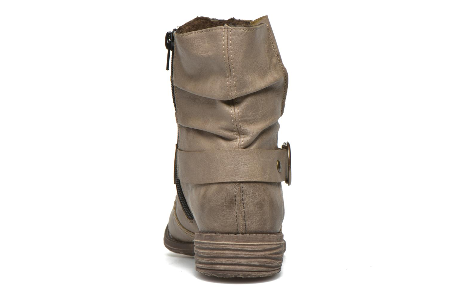 Ankle boots Rieker Myla 74798 Beige view from the right