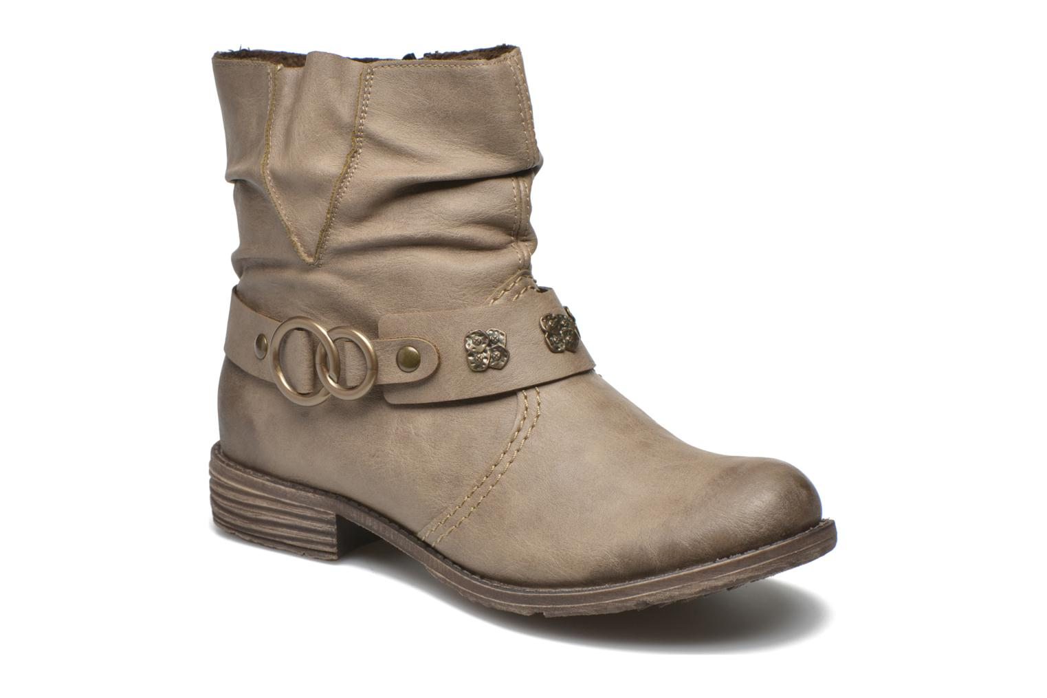 Ankle boots Rieker Myla 74798 Beige detailed view/ Pair view