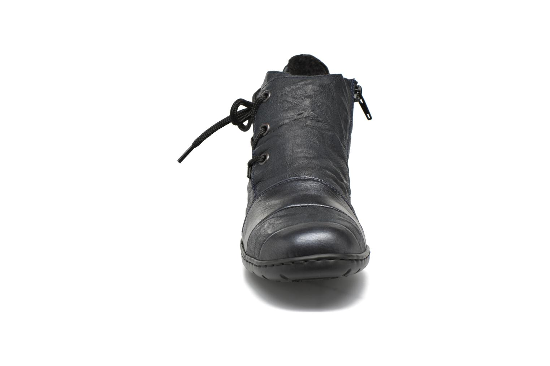 Chaussures à lacets Rieker Fleur L4334 Bleu vue portées chaussures