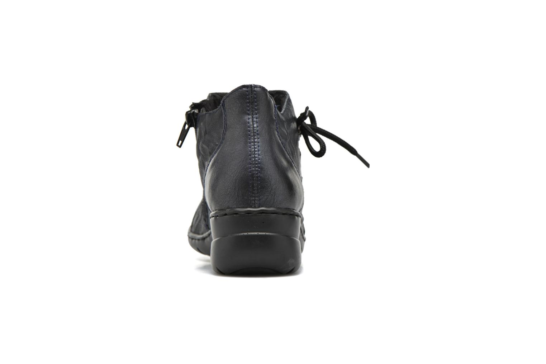 Chaussures à lacets Rieker Fleur L4334 Bleu vue droite