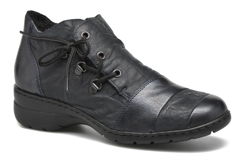 Chaussures à lacets Rieker Fleur L4334 Bleu vue détail/paire