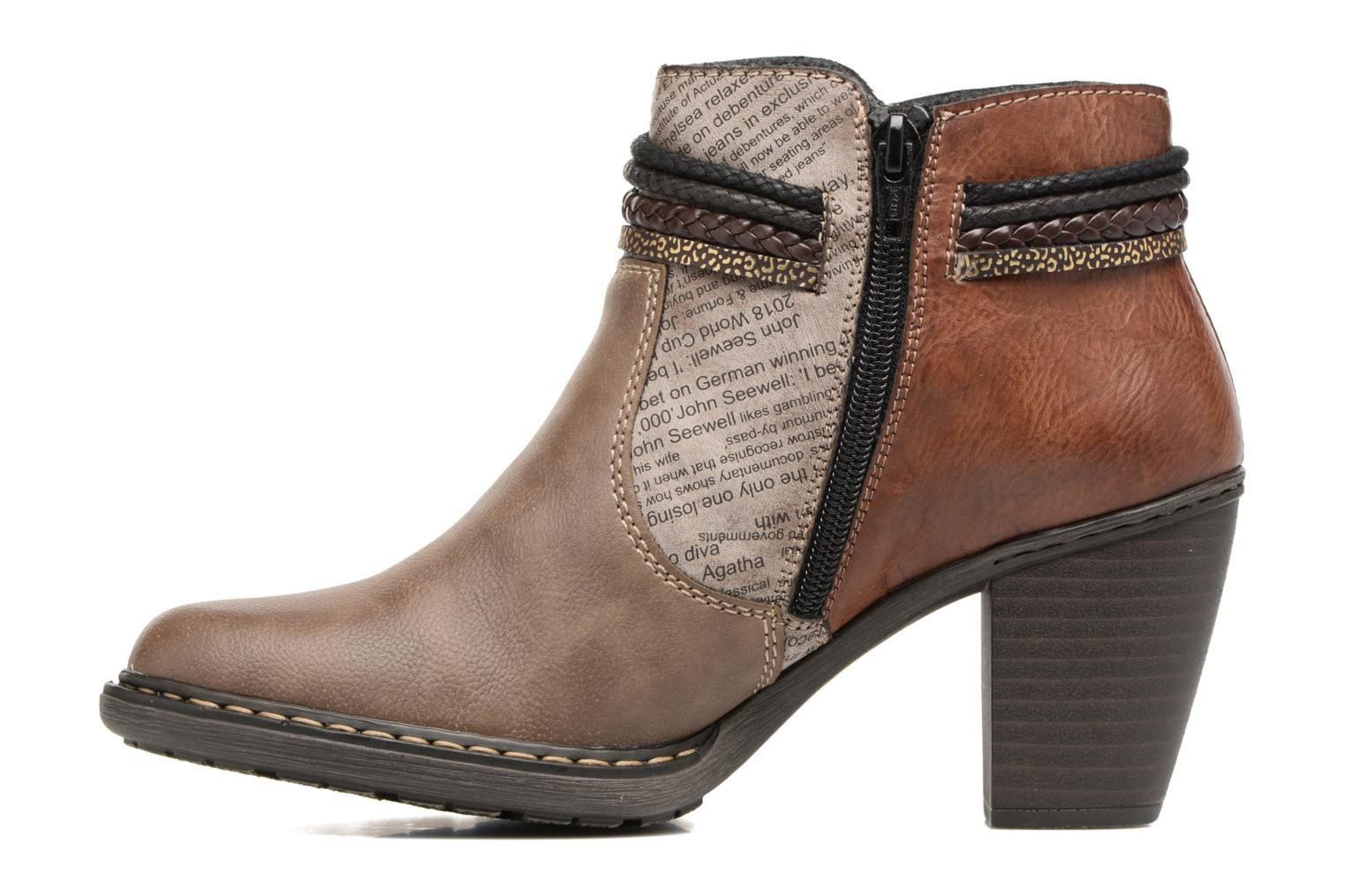 Ankle boots Rieker Alice 55298 Brown front view