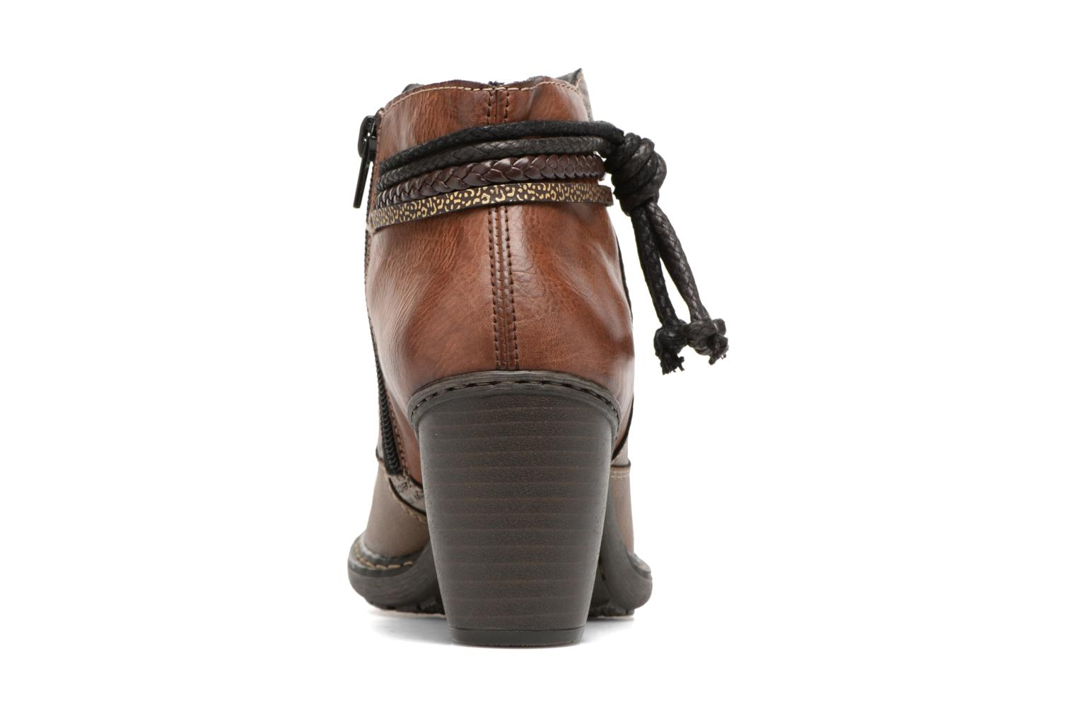 Ankle boots Rieker Alice 55298 Brown view from the right