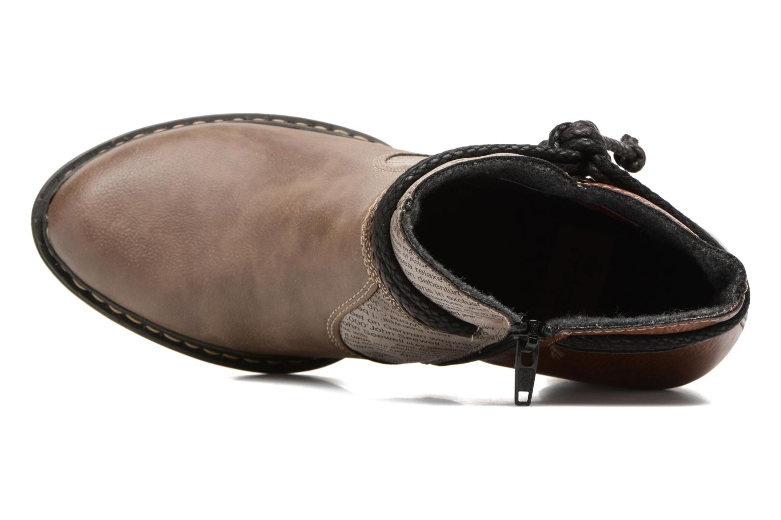 Ankle boots Rieker Alice 55298 Brown view from the left