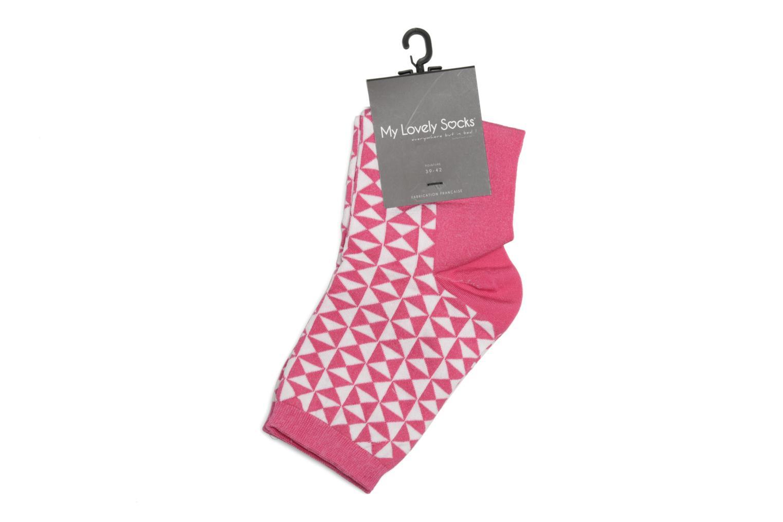 Chaussettes et collants My Lovely Socks Chaussettes Marthe Rose vue droite