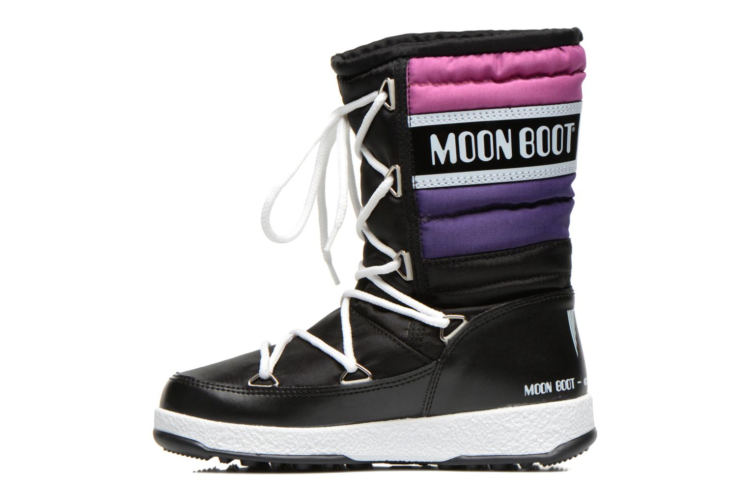 Moon Boot W.E. Quilted Jr Wp Black Violet Orchid