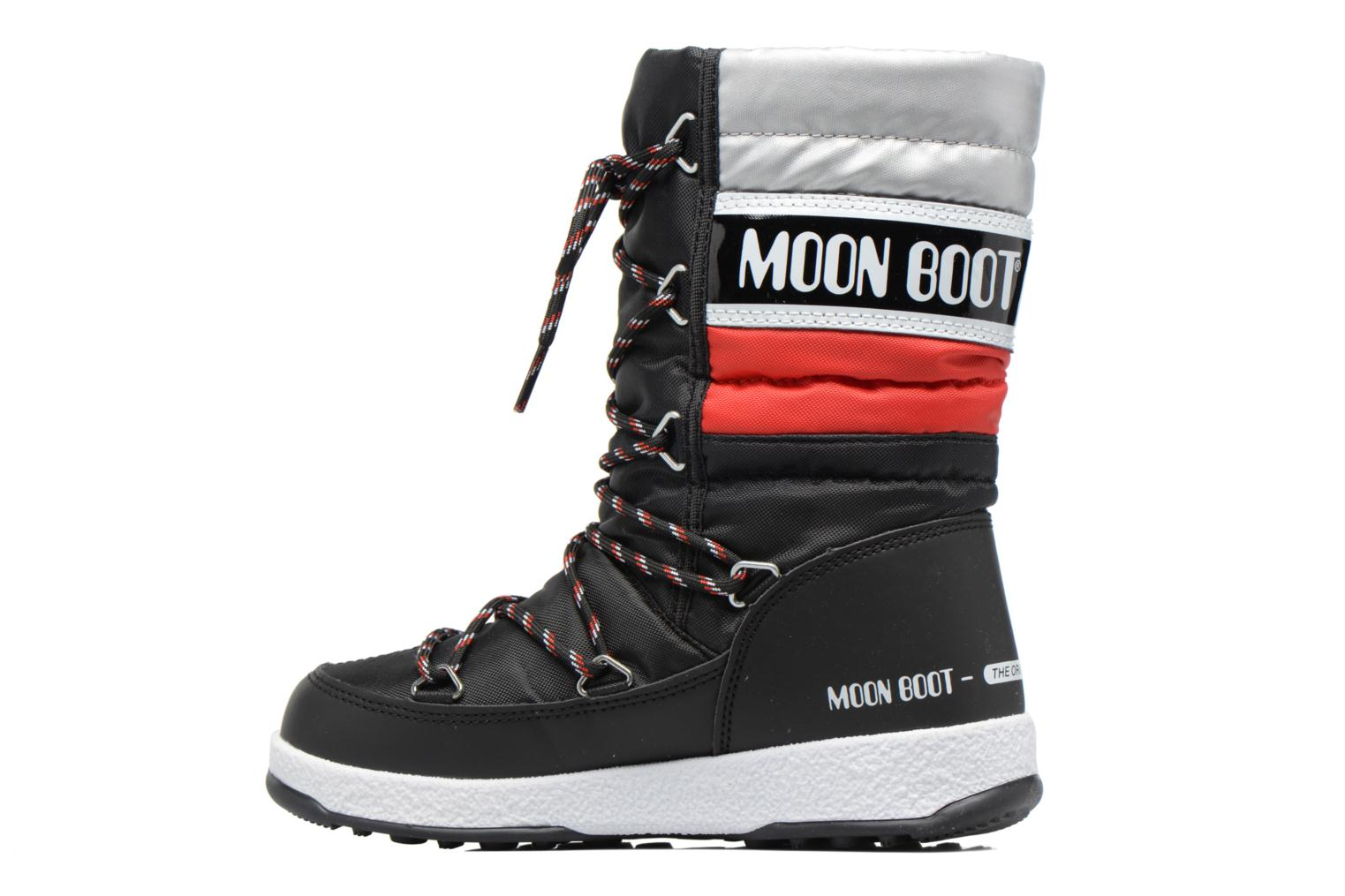 Boots & wellies Moon Boot Moon Boot W.E. Quilted Jr Wp Black front view