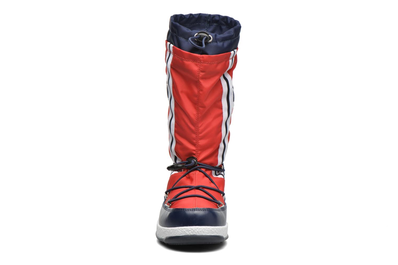 Bottes Moon Boot Moon Boot W.E. W.Fall Jr Wp Rouge vue portées chaussures