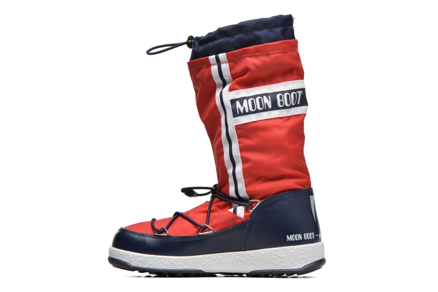 Bottes Moon Boot Moon Boot W.E. W.Fall Jr Wp Rouge vue face