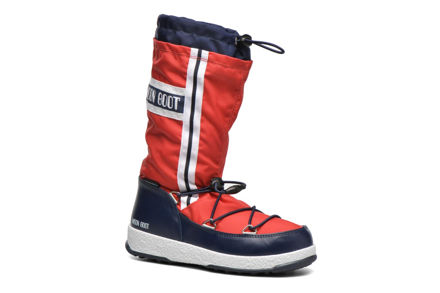 Boots & wellies Moon Boot Moon Boot W.E. W.Fall Jr Wp Red detailed view/ Pair view