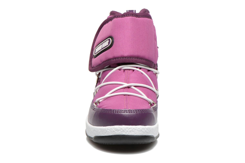 Bottines et boots Moon Boot Moon Boot Jr Strap Violet vue portées chaussures