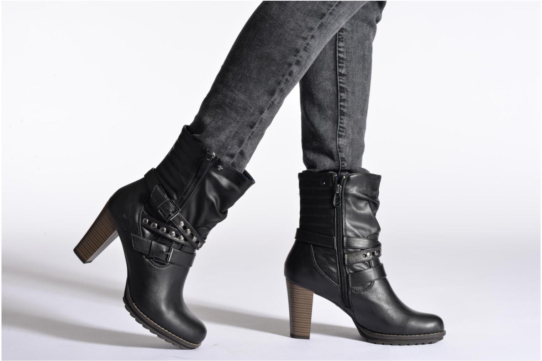 Bottines et boots Tom Tailor Fleur Noir vue bas / vue portée sac