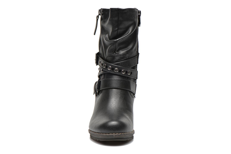 Bottines et boots Tom Tailor Fleur Noir vue portées chaussures