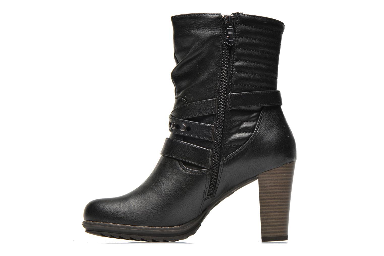 Bottines et boots Tom Tailor Fleur Noir vue face