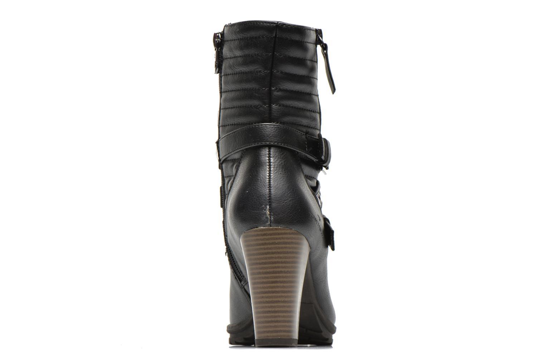Bottines et boots Tom Tailor Fleur Noir vue droite
