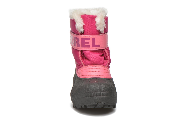 Bottes Sorel Snow Commander Rose vue portées chaussures