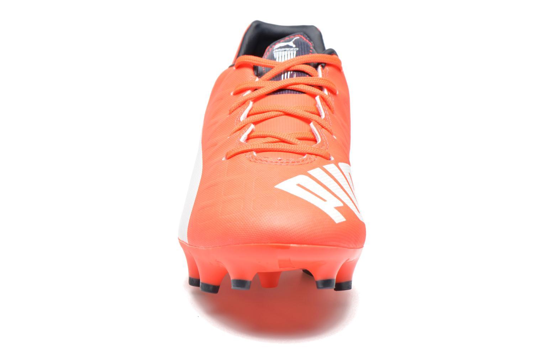 Chaussures de sport Puma Evospeed 4 4 FG Orange vue portées chaussures