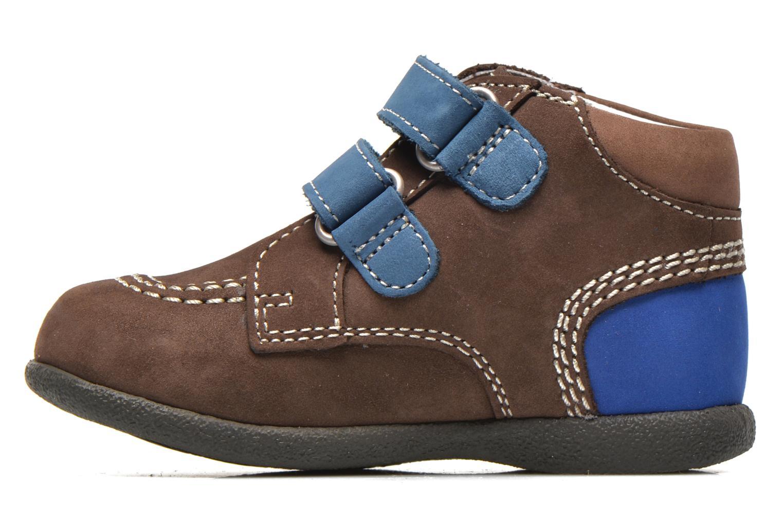 Chaussures à scratch Kickers Babyscratch Marron vue face