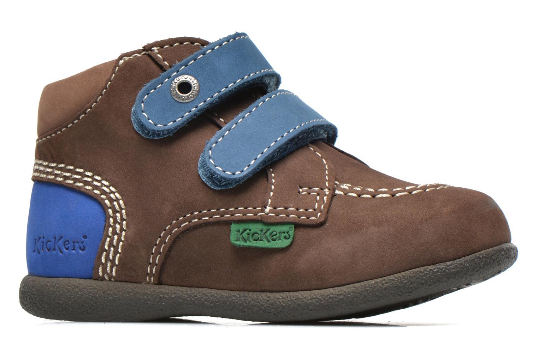 Chaussures à scratch Kickers Babyscratch Marron vue derrière