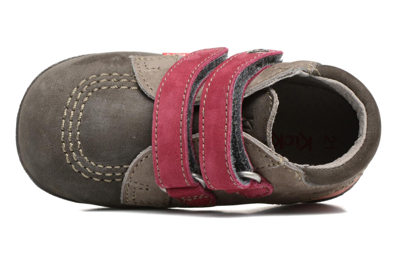 Chaussures à scratch Kickers Babyscratch Gris vue gauche