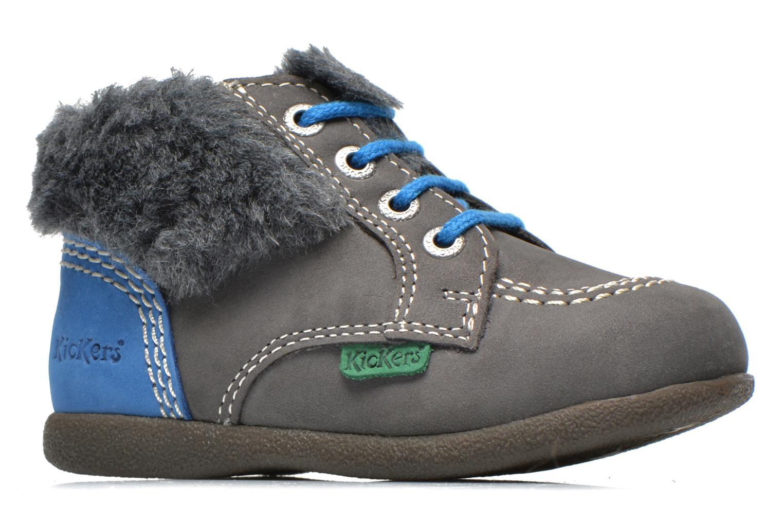 Stiefeletten & Boots Kickers Babyfrost grau ansicht von hinten