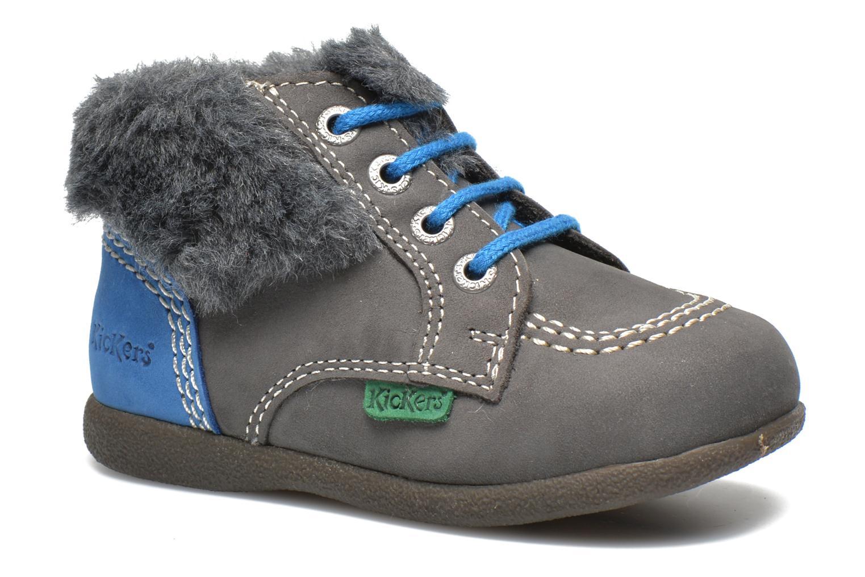 Ankelstøvler Kickers Babyfrost Grå detaljeret billede af skoene