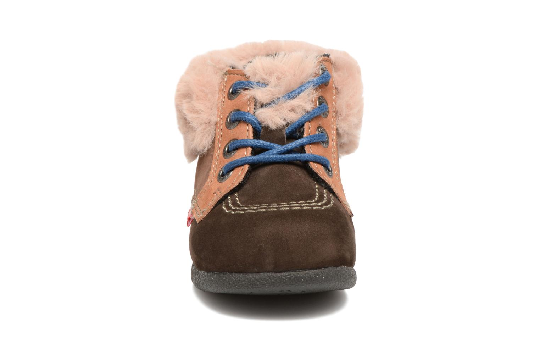 Bottines et boots Kickers Babyfrost Marron vue portées chaussures
