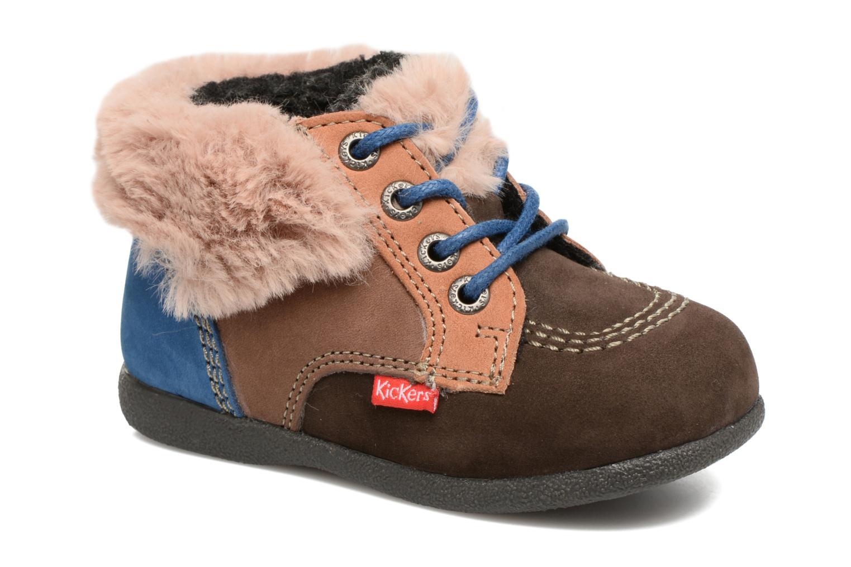 Bottines et boots Kickers Babyfrost Marron vue détail/paire