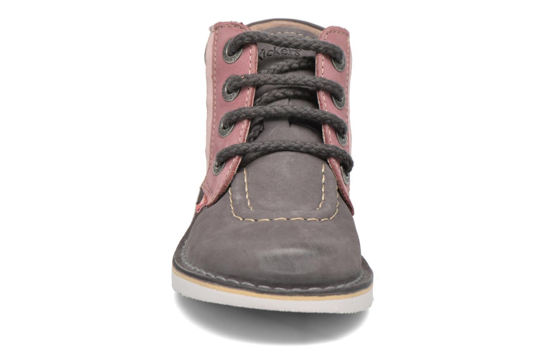 Bottines et boots Kickers Walla Gris vue portées chaussures