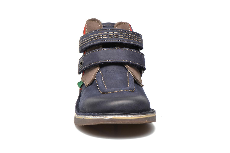 Chaussures à scratch Kickers Wapa Bleu vue portées chaussures