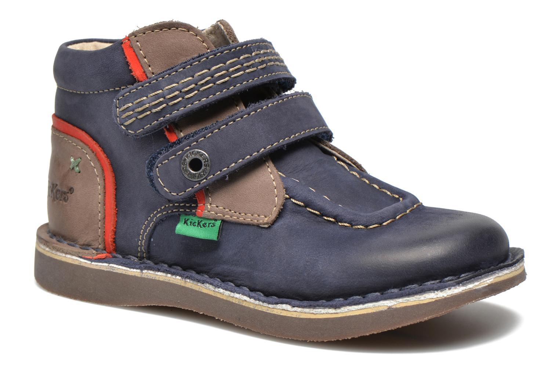Chaussures à scratch Kickers Wapa Bleu vue détail/paire
